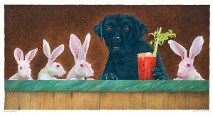 Will Bullas-The Hare Of The Dog... Limited Edition Canvas