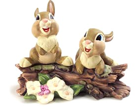 WDCC Disney Classics-Bambi Thumper's Sisters Hello, Hello There