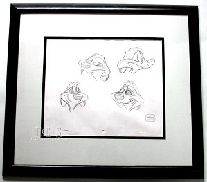 WDCC Disney Classics-The Lion King Timon Original Production Drawing