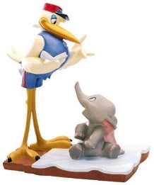 WDCC Disney Classics-Dumbo Mr Stork And Dumbo Bundle Of Joy