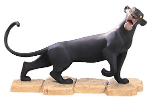 WDCC Disney Classics-The Jungle Book Bagheera Mowgli's Protector