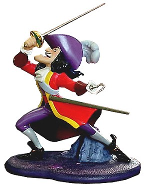 WDCC Disney Classics-Peter Pan Captain Hook I've Got You This Time