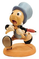 WDCC Disney Classics-Pinocchio Jiminy Cricket Wait For Me, Pinoke