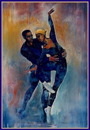 William Tolliver-Dancers Limited Edition Artist Signed