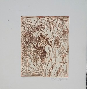 William Tolliver-Etching #14 Artist Signed