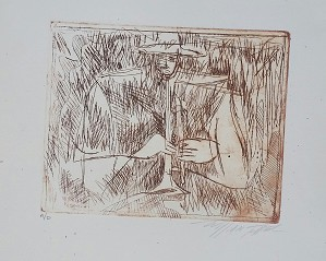 William Tolliver-Etching Artist Proof Artist Signed
