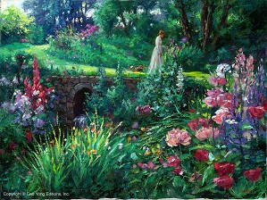 Cao Yong-A Walk In The Garden Archival Giclee