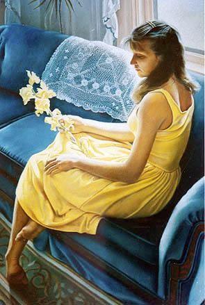 Tom Sierak-Yellow Irises Canvas Giclee