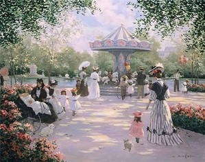 Christa Kieffer-A Parisian Carousel By Christa Kieffer Canvas  Signed & Numbered