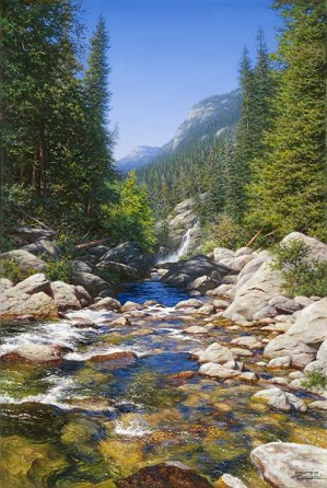Larry Dyke-Abundant Waters By Larry Dyke Giclee On Canvas  Grande Edition