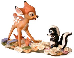 WDCC Disney Classics-Bambi & Flower He Can Call Me A Flower