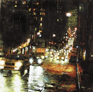 Mark Lague-Bay Hill Lights By Mark Lague Giclee On Canvas  Signed & Numbered