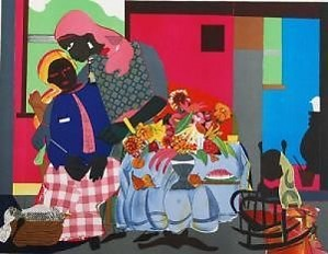 Romare Bearden-Morning Signed