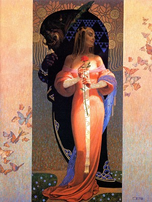 Thomas Blackshear-Beauty And The Beast - Unframed Print