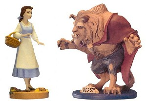WDCC Disney Classics-Beauty And The Beast Maquette