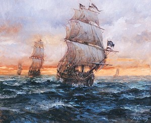 Andy Thomas-Black Barts Fleet By Andy Thomas Giclee On Canvas Open Edition Signed