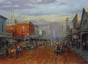 Andy Thomas-Boom Town By Andy Thomas Giclee On Canvas  Signed & Numbered