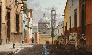 George Hallmark-Buenos Dias San Miguel By George Hallmark Giclee On Canvas  Grande Edition