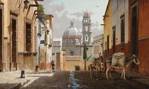 George Hallmark-Buenos Dias San Miguel By George Hallmark Giclee On Canvas  Grande Edition
