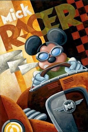 Mike Kungl-Mick Racer Giclée On Canvas