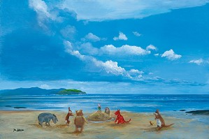 Peter Ellenshaw-Pooh And Friends At The Seaside - From Disney Winnie the Pooh