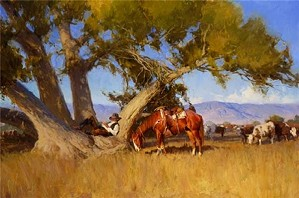 Bill Anton-Cottonwood Dreams By Bill Anton Giclee On Canvas  Signed & Numbered