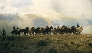 Norm Clasen-Dream Herd By Norm Clasen Giclee On Canvas  Grande Edition