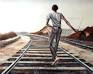 Ernie Barnes-Destination Unknown Signed And Numbered Limited Edition
