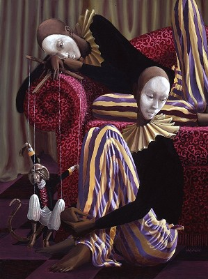John Holyfield-Entertainers Giclee on Canvas 10th Anniversary Edition