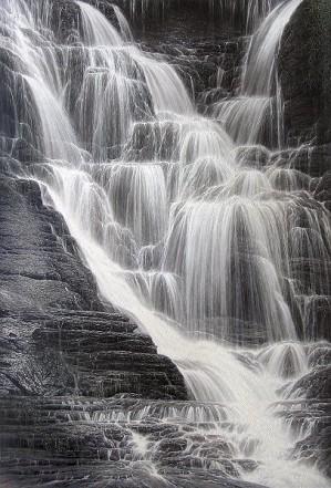 Larry Dyke-Falling Water I By Larry Dyke Giclee On Canvas  Artist Proof
