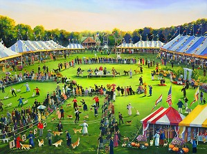 Sally Caldwell Fisher-The Dog Show Limited Edition Canvas