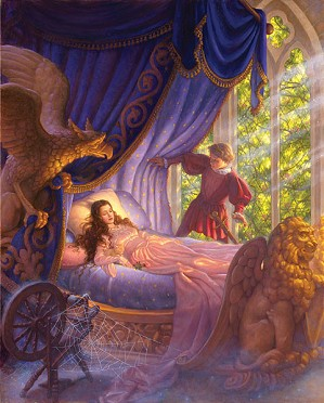 Scott Gustafson-Sleeping Beauty Limited Edition Canvas
