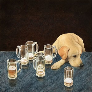Will Bullas-What's That In Dog Beers Limited Edition Canvas