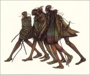 Charles Bibbs-Herdsticks And Sandals (hand Painted)