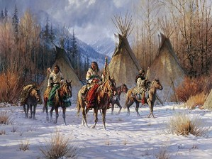 Martin Grelle-Hunters Morning By Martin Grelle Giclee On Canvas  Signed & Numbered
