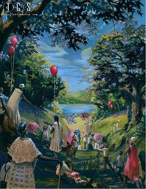 John Holyfield-River Jubilee Canvas