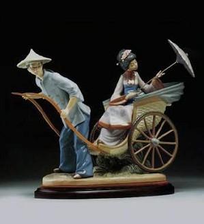 Lladro-A Rickshaw Ride