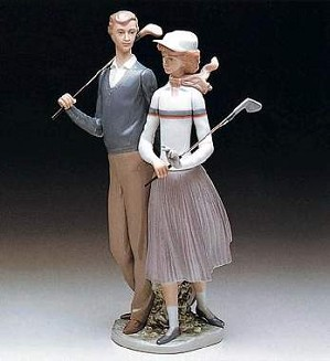 Lladro-Golfing Couple
