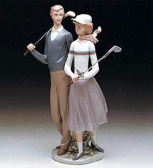 Lladro-Golfing Couple