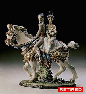 Lladro-Valencian Couple On Horse