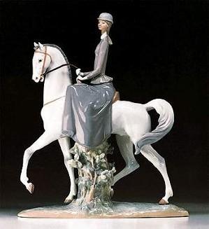 Lladro-Female Equestrian