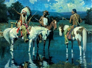 David Mann-Lakota Moon By David Mann Giclee On Canvas  Artist Proof