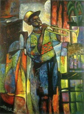 William Tolliver-Learning To Play Estate Certified Serigraph