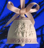 Lladro-Christmas Bell 1987
