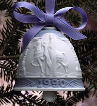 Lladro-Christmas Bell 1990