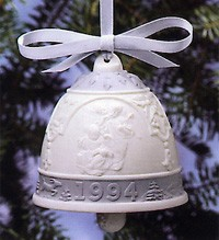 Lladro-Christmas Bell 1994