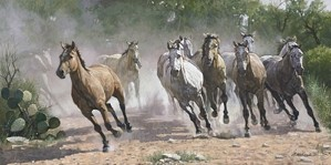 Ragan Gennusa-Los Caballos By Ragan Gennusa Print  Signed & Numbered