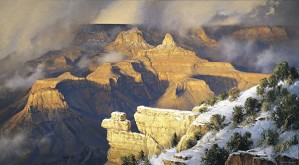 Robert Peters-March Yavapai Point By Robert Peters Giclee On Canvas  Signed & Numbered
