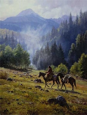 Martin Grelle-Mists Of Morning By Martin Grelle Canvas  Artist Proof
