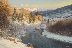 Bob Wygant-Misty Crossing By Bob Wygant Giclee On Canvas  Artist Proof